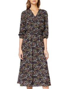 Mavi YOUNG FASHION Damen V NECK DRESS Damen Kleid black pastel flower printed S
