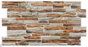 3D PVC FLIESEN Wandpaneele Wandverkleidung PVC-Verkleidung Gibraltar Wand Steinimitation (0,48qm)