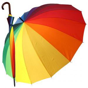 Golfschirm Partnerschirm Stockschirm Regenbogen