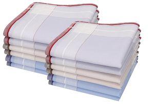 Betz Herren Stoff Taschentücher Set Leo 1 Dessin 6 aus Baumwolle,  40x40 cm, Menge - 12 Stück