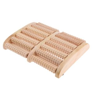 Fußmassageroller Fußroller Holzfußmassagegerät Relax Entspannungsrolle aus Holz in , 2 x 7 Rollen