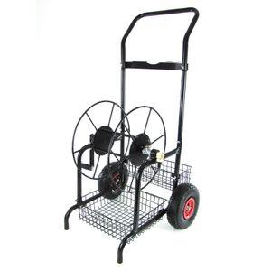 RAMROXX Metall Schlauchwagen Schlauchaufroller bis 60m Gartenschlauch