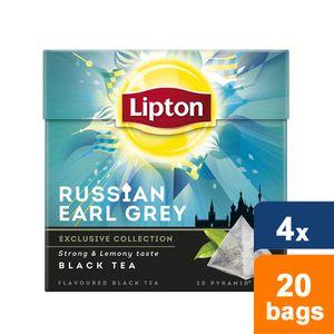 Lipton - Russian Earl Grey - 4x 20 Teebeutel