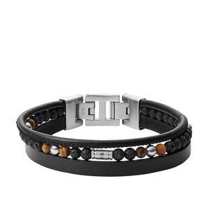 Fossil Herren-Armband Multi-Strand Leder JF03321040