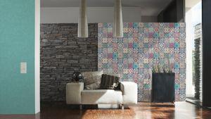 Livingwalls Vliestapete Neue Bude 2.0 Tapete lila rosa blau 10,05 m x 0,53 m 362051 36205-1