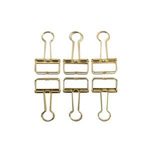 Oblique Unique 6 Foldback Klammern Klemmen Papierklammern Vielzweckklemmen - gold