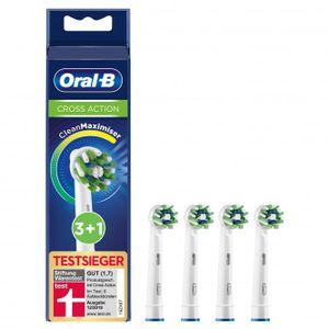 Oral-B CrossAction Aufsteckbürsten mit CleanMaximiser-Borsten, 4 Stück