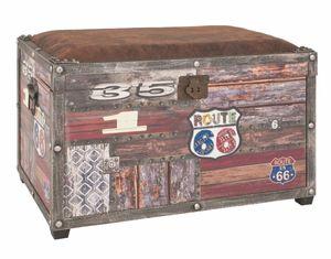 Haku Sitztruhe 30994, Gestell aus mdf In Vintageoptik, Sitzfläche gepolstert mit Kunstleder In vintagebraun bezogen, klappbar