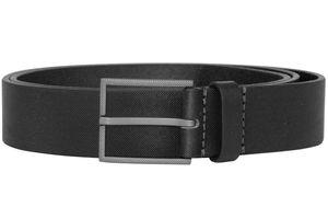 Boss 50413090-001 Herren-Ledergürtel Trilos Schwarz, 100 cm