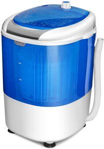 GOPLUS Mini Waschmaschine mit Schleuder, Mobile Waschmaschine, Campingwaschmaschine, mit 2,5kg Kapazität, 170 W, Tragbar, Toplader, für Reise Camping Wohnung Wohngemeinschaft
