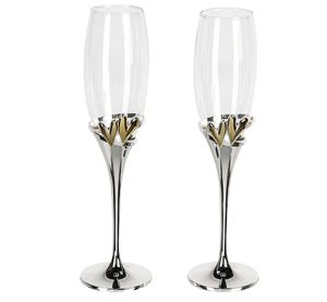 Casablanca 2 er Set Champagnerglas Goldhearts Sektgläser Herzen Gold