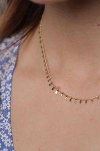 ZAG Bijoux Halskette mit Platten Gold
