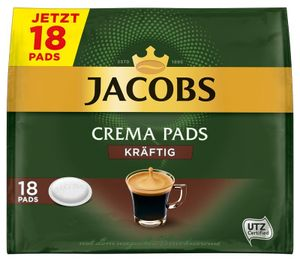 Jacobs Crema Pads kräftig | 18 Senseo kompatible Kaffeepads, 118 g