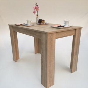 Möbel SD Esstisch Hilde  Sonoma Eiche hell sägerau  110 x 70 cm