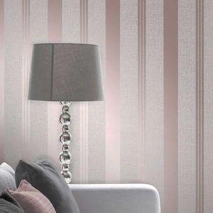 Vinyl Tapete Streifen Quartz Design Rose Gold