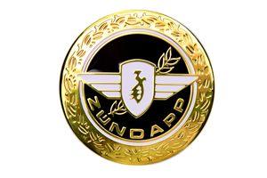 Zündapp Emblem Motiv 'Lorbeer' in Gold, Schwarz für den Tank