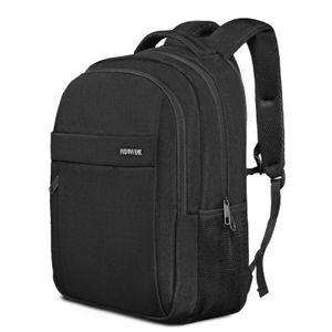 ROYALZ Laptop Rucksack 15,6 Zoll Laptopfach Daypack Schule und Business Tasche Geräumig für Rucksäcke für die Schule Arbeit Uni Freizeit, Farbe:Schwarz