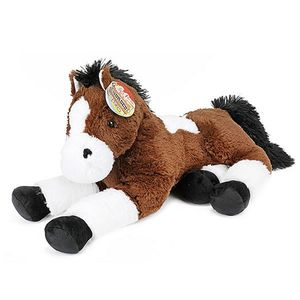 Toi-Toys ausgestopftes Pferd XXL Junior 60 cm Plüsch braun/weiß/schwarz