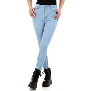 Ital-Design Damen Jeans High Waist Jeans Hellblau Gr.36