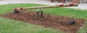 Kinder- Holzwippe für 4 Kinder Garten-Holzwippe Kinder-Wippe - (3065)
