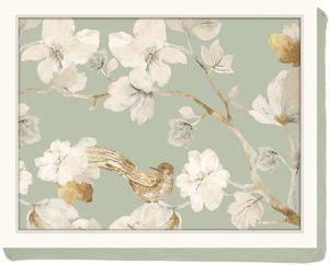 KitchenCraft Knietablett mit Kissen Duck Egg 44 x 33 Tablett Magnolie Blume