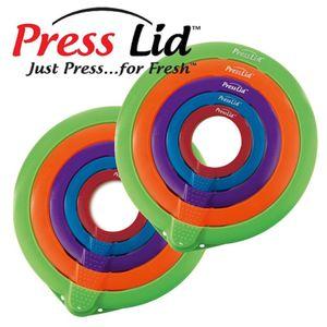 10 x Vakuumdeckel Bunt Deckel Frischhaltedeckel Frischedeckel Frischhaltefolie-Ersatz von PressLid