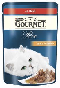 Gourmet Perle Erlesene Streifen mit Rind, 85 g