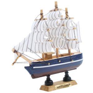 Segelschiff aus Holz und Canvas Schiff Modell Maritim Segelboot Haus Dekoration Objekt Bootmodell Höhe : Ca. 130 mm / 5,12 Zoll
