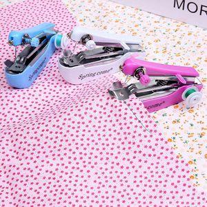 Kleine Handnähmaschine Mini Nähmaschine Tragbare für kleinere Näharbeiten, Kleidung, Vorhang, DIY Zufällige Farbe