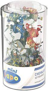 PAPO Tube mit 12 Mini Figuren Ritter für Kinder