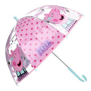 Vadobag Kinder Regenschirm Peppa Pig Wutz Schwein Schirm Rosa 70cm