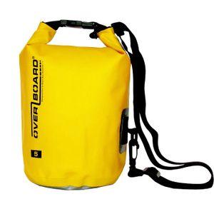 Overboard, Packsack, wasserdichter Packsack 5 Liter Gelb,