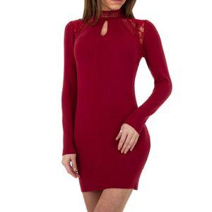 Ital-Design Damen Kleider Strickkleider Rot