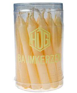 Baumkerzen in Klarsichtdose 20er Pack ( 100/13 mm) getaucht, Farbe:champagner