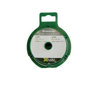 XCLOU GARDEN Bindedraht, Wickeldraht, auf Spule, 1,25 mm x 50 m, grün