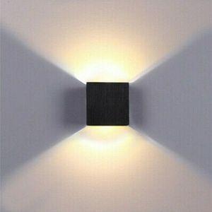 Miixia COB LED Wandleuchte Wandlampe Flur Strahler Licht Up Down Außen/Innen 6W Modern Warmweiss Schwarz