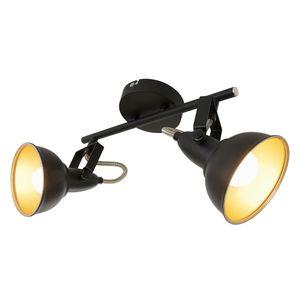 Deckenleuchte dreh-&schwenkbar Retro 2xE14 40W Schwarz-gold Briloner Leuchten