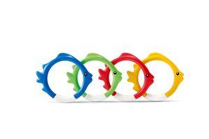 INTEX Tauchringe Unterwasser Ringe Fisch Wasser Spielzeug Zubehör mit Gewicht
