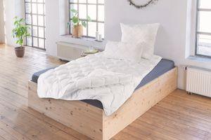 Schiesser 4-Jahreszeitendecke 2-teilige Bettdecke, Allergiker geeignet, Größe: 135 cm x 200 cm
