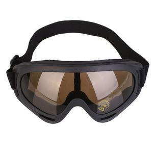 Motorradbrille Motorrad Fahrradbrille Kaffee Motocross Dirt Bike Helm Anti-UV Enduro Racing Brille