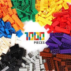 1000 stk. DIY Baustein Bulk Set Stadt kreative klassische Ingenieur Junge Kinder Spielzeug