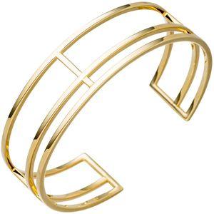 JOBO Armspange / offener Armreif 925 Silber gold vergoldet Armband mehrreihig