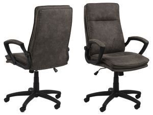 Brum Bürostuhl grau Computerstuhl Chefsessel Schreibtischstuhl Büro  Sessel