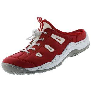 Rieker Damen Sabots / Pantolette L0566-33 rot, Damen Größen:40, Farben:rot