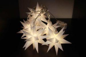 FHS LED Sternen Lichterkette mit 6 Sternen 6 LED Batterie Timer