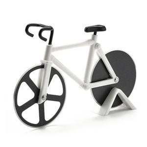 Fahrrad-Pizzaschneider, Interessanter Pizzaschneider Mit Edelstahl-Schneidrad, Pizzaschneider, Teigschneider, Weiß,Weihnachtsgeschenk