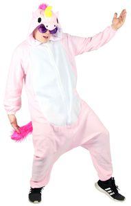 Pinkes Einhorn Kostüm für Erwachsene, Größe:M