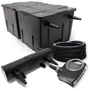 Filter SetTeichfilter 60000l SuperEco Pumpe Schlauch 36W UV Teichklärer 066