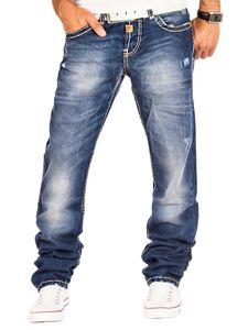 CIPO & BAXX Herren Straight Leg Jeans Blau, Größe:W33/L36