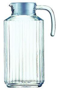 """Esmeyer Arcoroc Glaskrug """"Quadro"""" mit Deckel 1,7 Liter"""